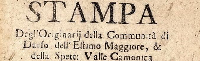 1753. Gli orginari di Darfo dell'Estimo Maggiore