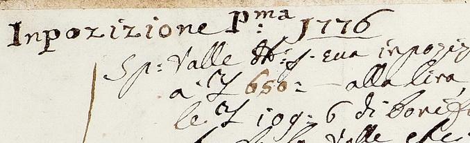 1776. Imposizioni, contabilità delle tassazioni imposte dal Comune di Erbanno e relativi crediti