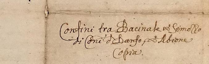 1622. Confinia montium Semotii et Bacinalis inter comunia Darfi et Abioni